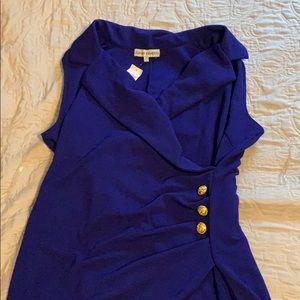 Blue faux wrap dress